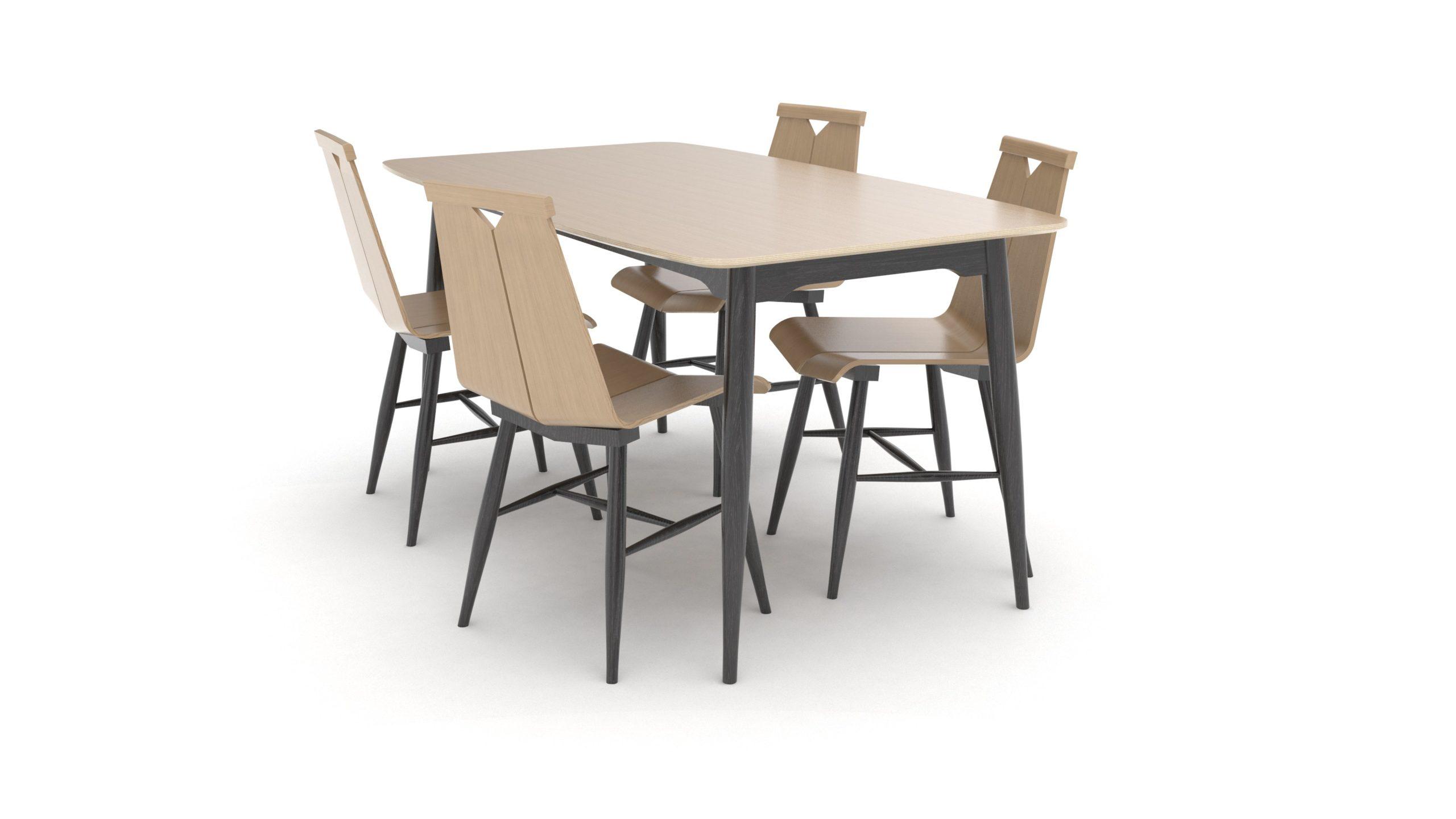 1960 Dining Set Design From Scandinavia